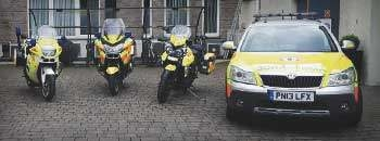 Specialist parts for blood bikes charity