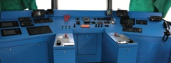 CONTROL CONSOLE FOR WORLD'S FIRST SELF-PROPELLED AIR CUSHION BARGE